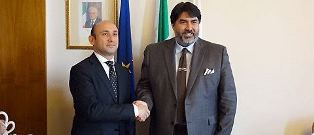 IL PRESIDENTE SOLINAS (SARDEGNA) INCONTRA L'AMBASCIATORE DELL'AZERBAIGIAN