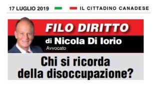 CHI SI RICORDA DELLA DISOCCUPAZIONE? – di Nicola Di Iorio