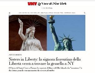 SISTERS IN LIBERTY: LA SIGNORA FIORENTINA DELLA LIBERTÀ VERRÀ A TROVARE LA GEMELLA A NY – di Stefano Albertini