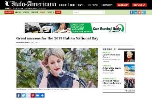 LOS ANGELES: GRANDE SUCCESSO PER IL 2019 ITALIAN NATIONAL DAY – di Maurizio Rami