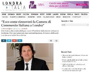 ECCO COME RINNOVERÒ LA CAMERA DI COMMERCIO ITALIANA A LONDRA: INTERVISTA AL PRESIDENTE ALESSANDRO BELLUZZO – di Francesco Ragni