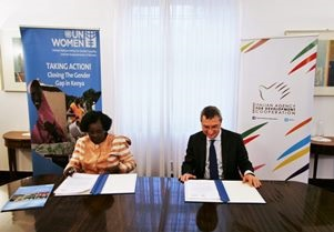 """LET IT NOT HAPPEN AGAIN"": SIGLATO IN AMBASCIATA A NAIROBI L'ACCORDO PER IL CONTRIBUTO ITALIANO A UN WOMEN"