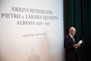 """""""L'ARCHIVIO FOTOGRAFICO DI PIETRO E LARISSA QUARONI – ALBANIA 1928-1931"""": L'AMBASCIATORE CUTILLO ALLA INAUGURAZIONE"""
