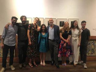 """MADRID: L'AMBASCIATORE SANNINO INCONTRA I VINCITORI DEL CONCORSO ITMAKES ART """"RAZIONALE/IRRAZIONALE"""""""