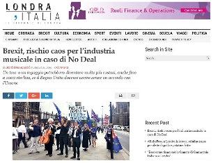 BREXIT: RISCHIO CAOS PER L'INDUSTRIA MUSICALE IN CASO DI NO DEAL - di Mariaelena Agostini