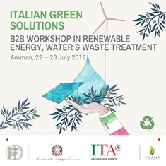 GREEN ITALIAN SOLUTION: AZIENDE ITALINE CON L'ICE AD AMMAN
