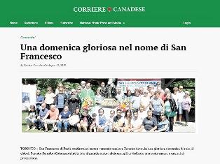 UNA DOMENICA GLORIOSA NEL NOME DI SAN FRANCESCO