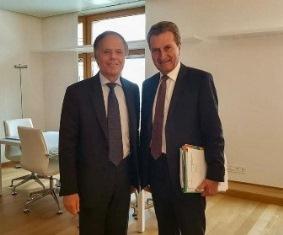IL MINISTRO MOAVERO A COLLOQUIO CON IL COMMISSARIO UE OETTINGER