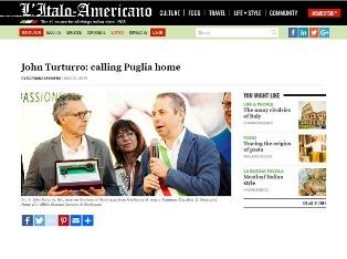 JOHN TURTURRO: CALLING PUGLIA HOME – di Barbara Minafra