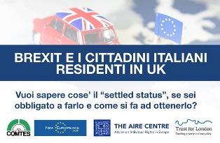 BREXIT E CITTADINI ITALIANI IN UK: DOMENICA A LONDRA L'INCONTRO INFORMATIVO DEL COMITES