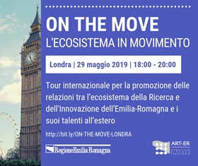 ON THE MOVE: IL SISTEMA DELL'EMILIA-ROMAGNA IN MOVIMENTO FA TAPPA A LONDRA