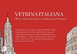 """NASCE """"VETRINA ITALIANA"""", L'INSERTO DELLA VOCE PER L'ECCELLENZA ITALIANA A NEW YORK"""