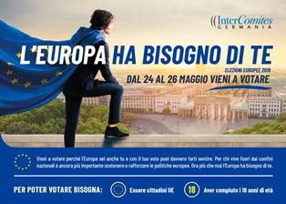 EUROPEE 2019: L'INTERCOMITES GERMANIA LANCIA UNA CAMPAGNA INFORMATIVA