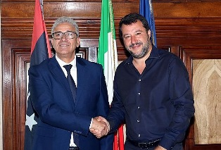 ITALIA – LIBIA: SALVINI INCONTRA BASHAAGHA AL VIMINALE