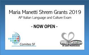 """L'ITALIANO A SAN FRANCISCO: TORNANO LE BORSE DI STUDIO """"MARIA MANETTI SHREM"""""""