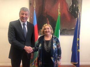 ITALIA - AZERBAIJAN: DEL RE INCONTRA RAMIZ HASANOV