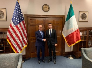DI MAIO NEGLI USA: TAPPA A WASHINGTON PER IL MINISTRO