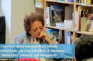 I BAMBINI DELLA HERMAN NOHL SCHULE INCONTRANO LIA LEVI A BERLINO - di Riccardo Coradeschi