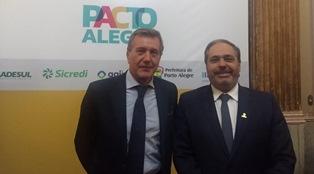 """PORTO ALEGRE: IL CONSOLE GENERALE BORTOT ALLA SOTTOSCRIZIONE DEL """"PACTO ALEGRE"""""""