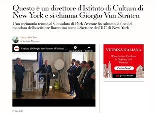 QUESTO È UN DIRETTORE D'ISTITUTO DI CULTURA DI NEW YORK E SI CHIAMA GIORGIO VAN STRATEN – di Stefano Vaccara
