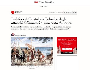 IN DIFESA DI CRISTOFORO COLOMBO DAGLI ATTACCHI DIFFAMATORI DI UNA CERTA AMERICA - di Carmelo Fucarino