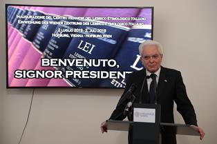 LESSICO ETIMOLOGICO ITALIANO: MATTARELLA ALLA INAUGURAZIONE DEL PROGETTO ALLA HOFBURG DI VIENNA