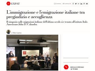 L'IMMIGRAZIONE E L'EMIGRAZIONE ITALIANE TRA PREGIUDIZIO E ACCOGLIENZA - di Yulia Lapina