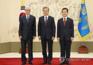 SEOUL: L'AMBASCIATORE FAILLA PRESENTA LE LETTERE CREDENZIALI AL PRESIDENTE MOON JAE-IN