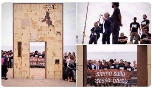 SIAMO SULLA STESSA BARCA: A LAMPEDUSA LA MARCIA PER LA GIORNATA DELLA MEMORIA E DELL'ACCOGLIENZA
