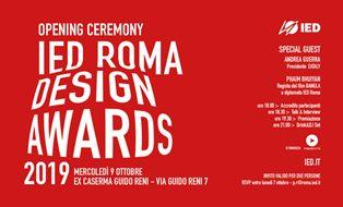 IED ROMA DESIGN AWARDS 2019