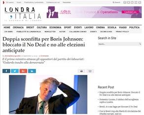 DOPPIA SCONFITTA PER BORIS JOHNSON: BLOCCATO IL NO DEAL E NO ALLE ELEZIONI ANTICIPATE – di Mariaelena Agostini
