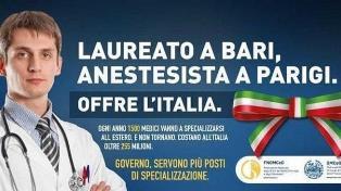 """""""LAUREATO A BARI, ANESTESISTA A PARIGI""""/ UNA PUBBLICITÀ PER FERMARE LA FUGA DEI MEDICI ITALIANI ALL'ESTERO"""