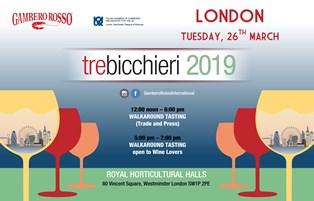 TRE BICCHIERI TOUR 2019: GAMBERO ROSSO TORNA A LONDRA