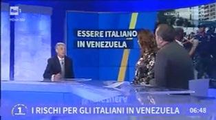 """VICINI AGLI ITALIANI IN VENEZUELA: VIGNALI (DGIEPM) A """"UNOMATTINA"""""""