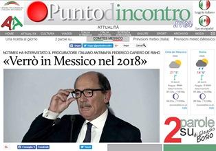 IL PROCURATORE ITALIANO ANTIMAFIA CAFIERO DE RAHO: NEL 2018 VERRÒ IN MESSICO - di Massimo Barzizza