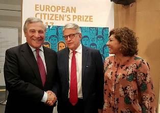 I VINCITORI DEL PREMIO DEL CITTADINO EUROPEO 2017 A BRUXELLES PER LA PREMIAZIONE