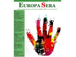 EUROPA SERA: ONLINE IL NUOVO NUMERO DEL GIORNALE D'INFORMAZIONE DEL PATRONATO INAS - CISL GRAN BRETAGNA