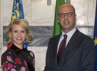 IL MINISTRO ALFANO A COLLOQUIO CON L'OMOLOGA DEL LIECHTENSTEIN FRICK