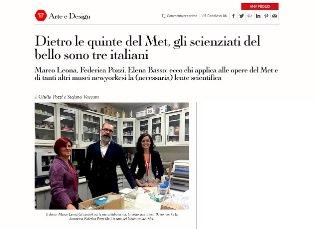 DIETRO LE QUINTE DEL MET: GLI SCIENZIATI DEL BELLO SONO TRE ITALIANI – di Giulia Pozzi e Stefano Vaccara
