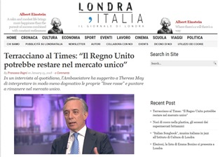 TERRACCIANO AL TIMES: IL REGNO UNITO POTREBBE RESTARE NEL MERCATO UNICO – di Francesco Ragni