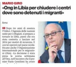 """IL VICE MINISTRO GIRO A """"IL MANIFESTO"""": ONG IN LIBIA PER CHIUDERE I CENTRI"""