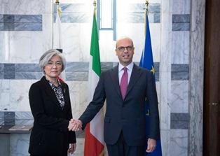 ALFANO INCONTRA IL MINISTRO SUD-COREANO KANG KYUNG-WHA
