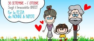 UNICEF PER LA FESTA DEI NONNI E DEI NIPOTI DOMANI E DOMENICA IN OLTRE 350 PIAZZE IN ITALIA