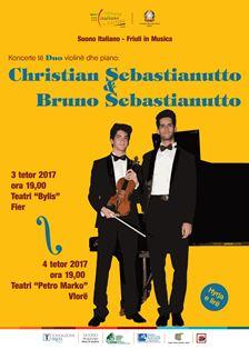 SUONO ITALIANO: CHRISTIAN E BRUNO SEBASTIANUTTO IN CONCERTO IN ALBANIA