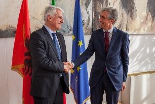 IL DG VIGNALI RICEVE ALLA FARNESINA IL MINISTRO DELLA DIASPORA ALBANESE