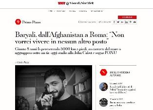 BARYALI DALL'AFGHANISTAN A ROMA: NON VORREI VIVERE IN NESSUN ALTRO POSTO – di Giulia Pozzi