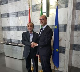ALFANO INCONTRA IL PRESIDENTE DELL'ALTO CONSIGLIO DI STATO LIBICO ABDUL RAHMAN SWEHLI