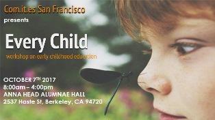 EVERY CHILD: A SAN FRANCISCO IL SEMINARIO DEL COMITES SULL'EDUCAZIONE INFANTILE