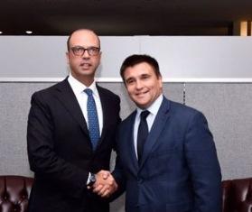 UNGA/ ALFANO AL MINISTRO UCRAINO KLIMKIN: NON C'È ALTERNATIVA AGLI ACCORDI DI MINSK