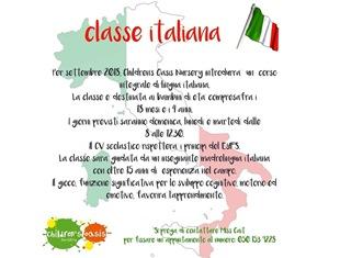 DA SETTEMBRE PRIMA CLASSE DI ITALIANO IN UNA SCUOLA DELL'INFANZIA A DUBAI